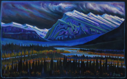 Rundle II oil on canvas 30 x 48  $2900