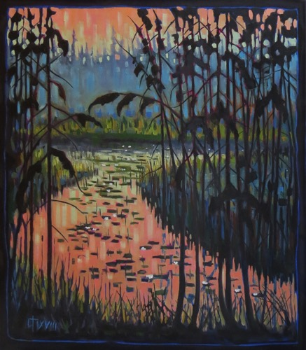 White Water Lilies-Northern Marsh 28 x 32   $1850