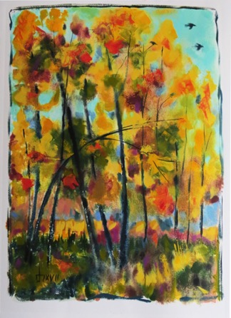Autumn Monoprint 2   22 x 30  $850 unframed