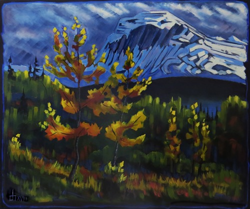 Autumn Mood- Chief  Mountain  30 x 36 oil on canvas sold
