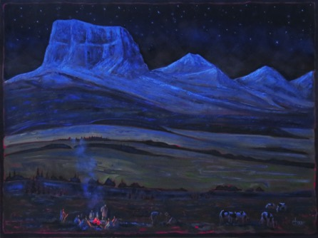 Blackfoot Camp, Chief Mountain 48 x 71   oil on canvas  $5900