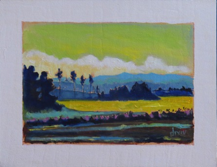 Canola and Foothills 16 x 20 $650