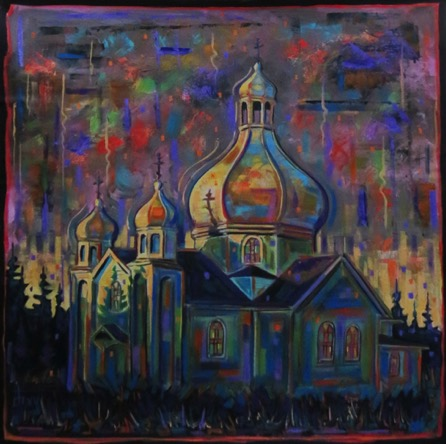 Church Near Tranopol 32 x 32 contact for price