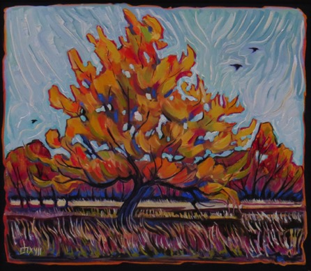 Lone Tree Mercer's Pasture   28 x 32 oil on canvas $1800