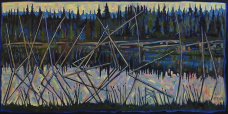 Near Beaver Lake, Saskatchewan 24 x 48 oil on canvas  sold