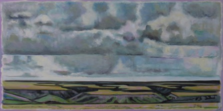 Patterns of Land and Sky-Near Dorothy Alberta    24 x 48   oil on canvas $2300