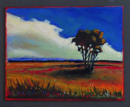 Shadow Tree oil on panel 16 x 20 $695