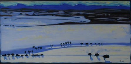 Snowfield II, West of Hartel 24 x 48 sold