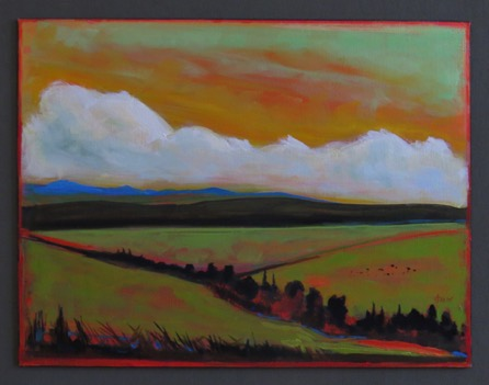 The Valley 16 x 20 oil on panel $695