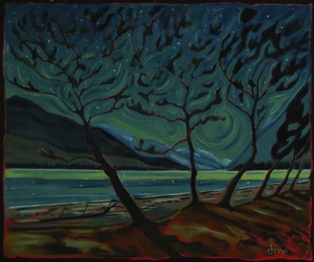 Waterton Mood-Night Beside the Lake sold