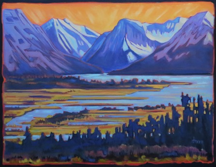 Waterton River-Marsh 28 x 36 oil on canvas sold