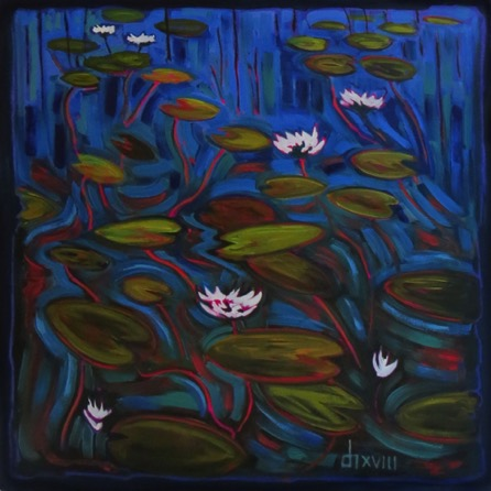 White Water Lilies  30 x 30  sold